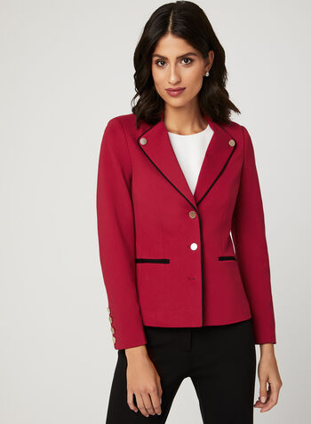 Military Style Ponte de Roma Jacket, Red, hi-res