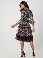 Fit & Flare Lace Dress, Black, hi-res