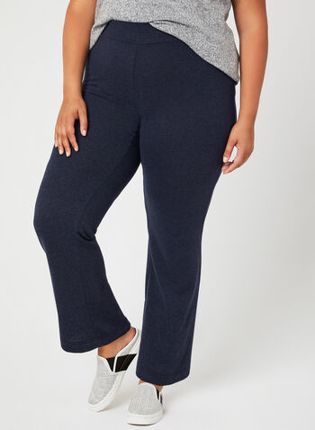 Pantalon de détente pull-on à jambe large , Bleu, hi-res