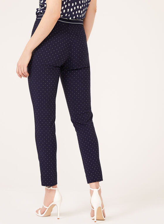 Slim Leg Pull-On Bengaline Pants, Blue, hi-res