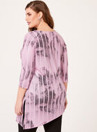 Abstract Print Asymmetric Top, Purple, hi-res