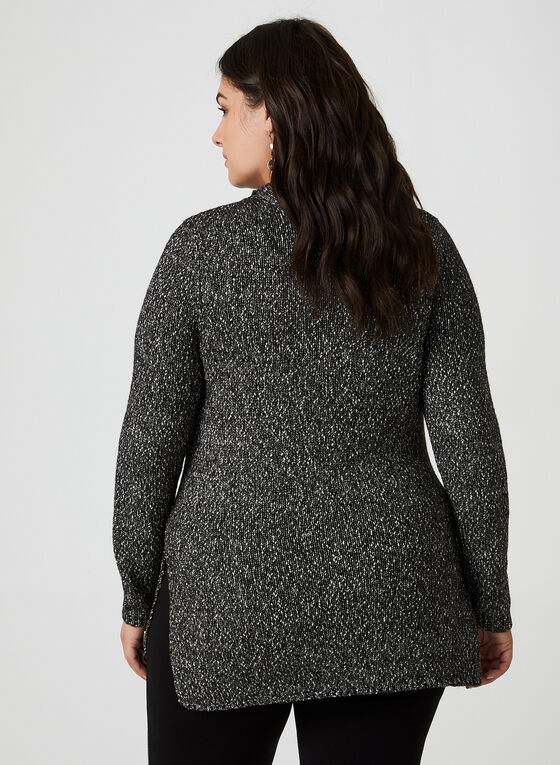 Yarn Tunic Sweater, Black
