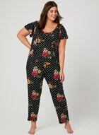 Hamilton - Floral Print Pajama Set, Red, hi-res