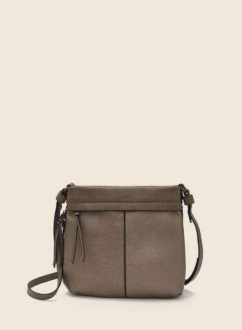 Joanel - Square Crossbody Bag, Grey,  handbag, crossbody, zipper, square, adjustable, fall winter 2020