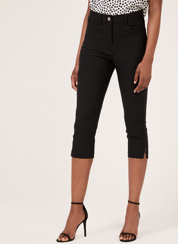 Simon Chang - Slim Leg Signature Fit Capri, Black, hi-res