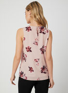 Floral Print Sleeveless Blouse, Multi, hi-res