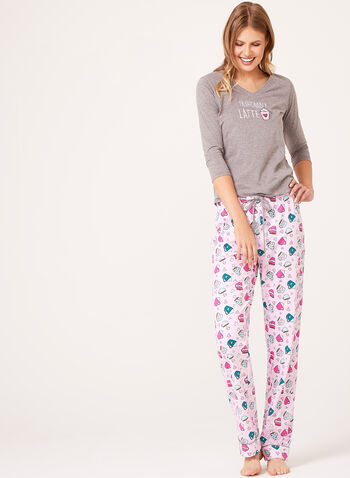 Pillow Talk - Cotton Jersey Pajama Set , , hi-res