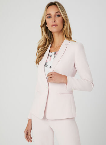 Notch Collar Blazer, Pink, hi-res,