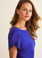 Short Tulip Sleeve Dress, Blue