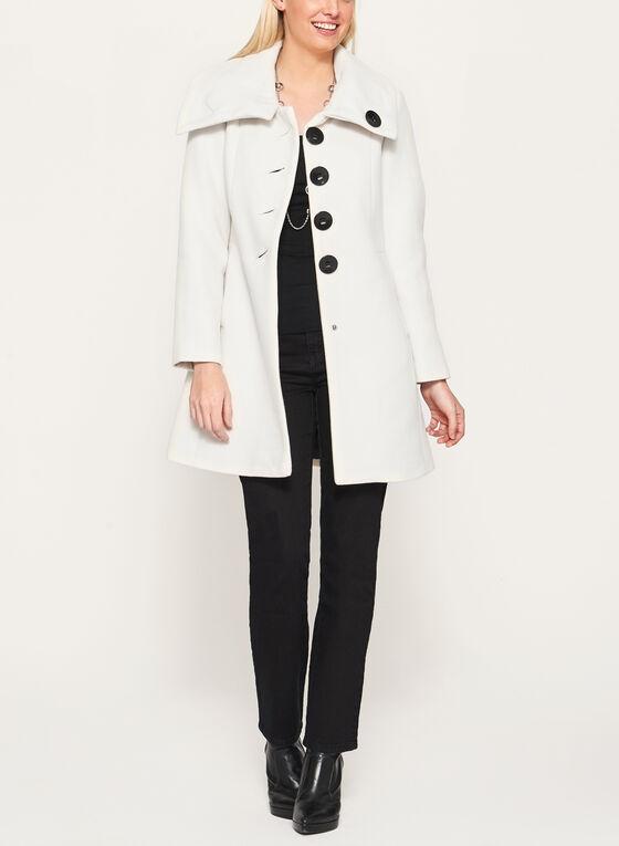 Manteau imitation laine à boutons surdimensionnés, Blanc cassé, hi-res
