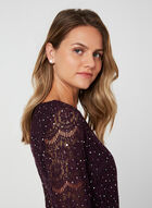 Lace Shift Dress, Purple