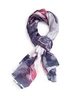 Abstract Print Scarf, Red, hi-res