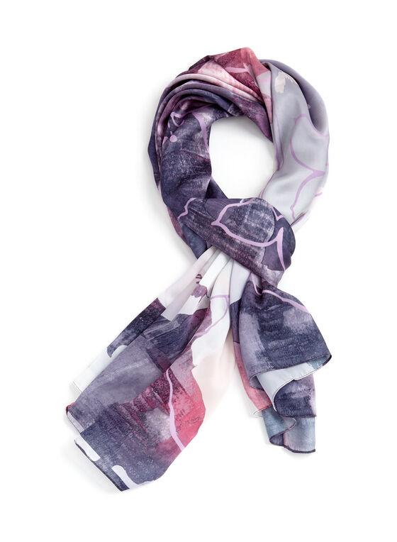 Foulard léger motif abstrait, Rouge, hi-res