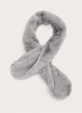 Faux Fur Neck Wrap, Grey, hi-res