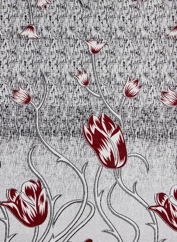 Foulard à imprimé floral, Rouge, hi-res