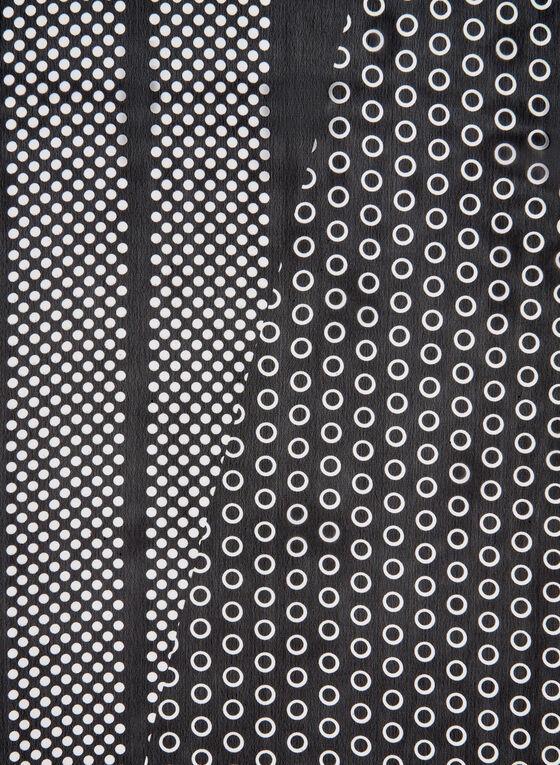 Dot Print Scarf, Black, hi-res