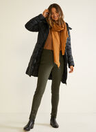 Embroidered Hem High Rise Jeans , Green