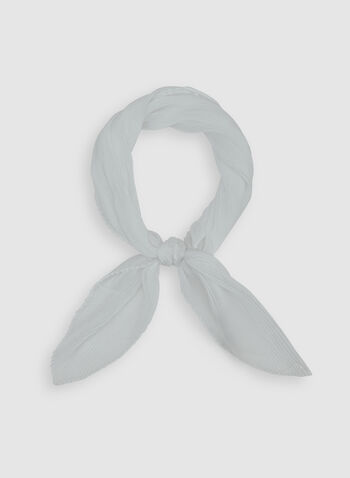 Pleated Scarf, White, hi-res