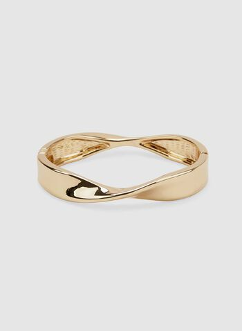 Twisted Bangle Bracelet, Gold, hi-res
