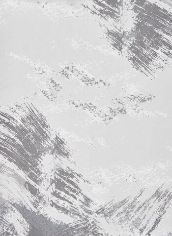Foulard léger motif abstrait, Noir,  foulard, léger, abstrait, mousseline, automne hiver 2020