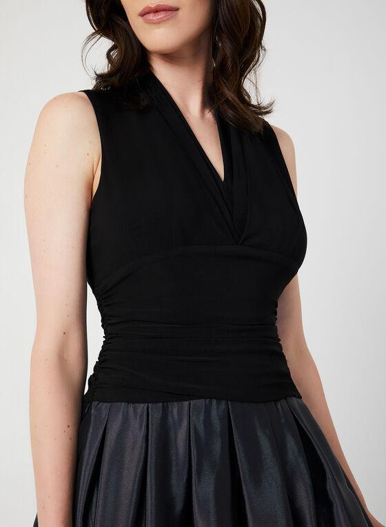 Ombré Effect Sleeveless Dress, Black