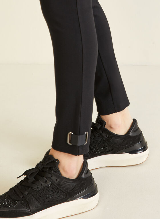 Tab Detail Leggings, Black