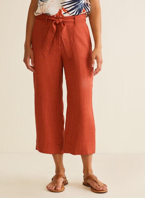 Belted Skirt Pants , Orange