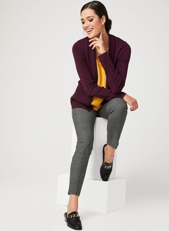 Cardigan ouvert en maille tricot, Rouge, hi-res