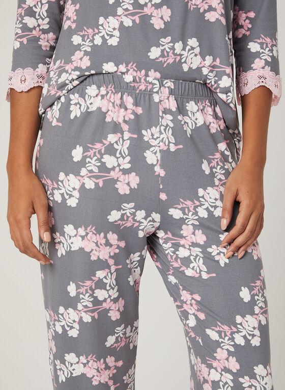 Ensemble pyjama fleuri, Bleu, hi-res