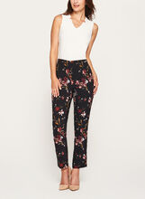 Jules & Leopold - Pantalon pull-on cheville à fleurs, Rouge, hi-res