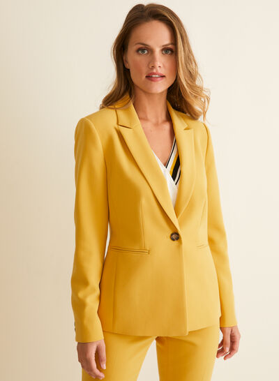 One-Button Closure Jacket