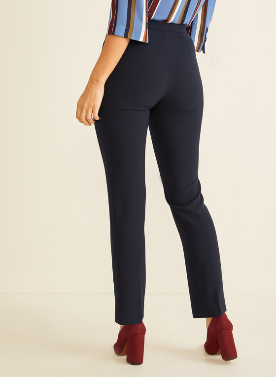 High Rise Straight Leg Pants, Blue