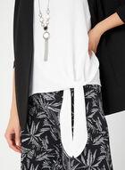 Sleeveless Tie Detail Blouse, Off White, hi-res