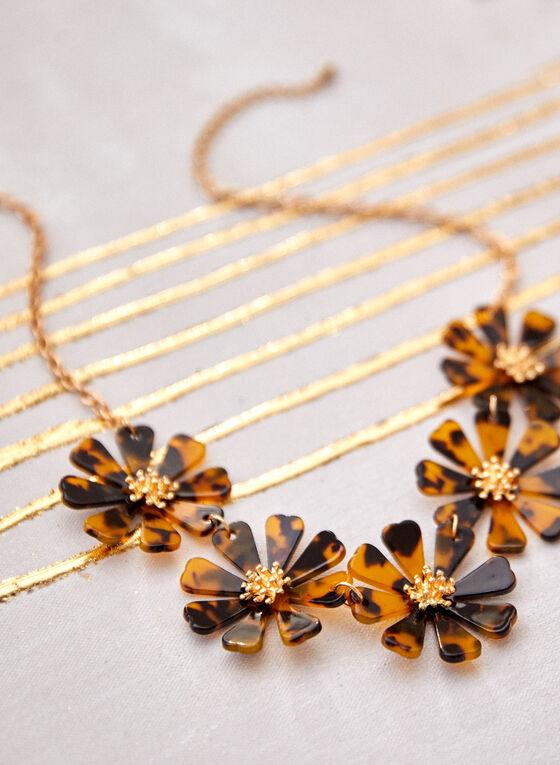 Floral Pendant Necklace, Multi