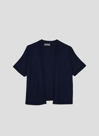 Cropped Open Front Bolero, Blue, hi-res,