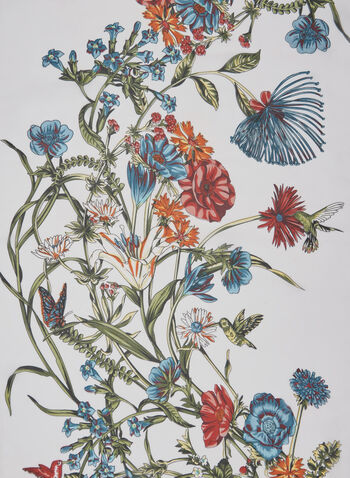 Floral Print Scarf, Multi, hi-res