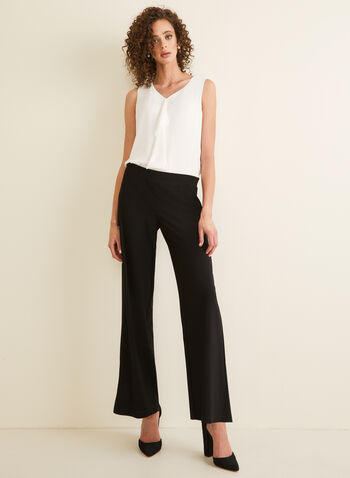 Pantalon pull-on à jambe large, Noir,  dress pants