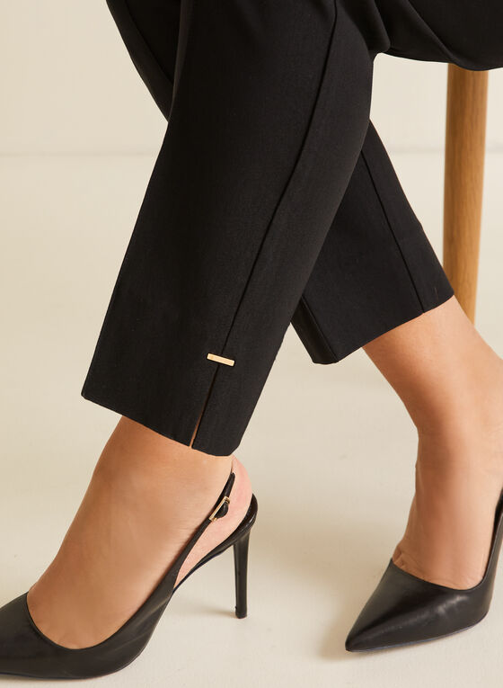 Pantalon coupe cité à jambe droite, Noir