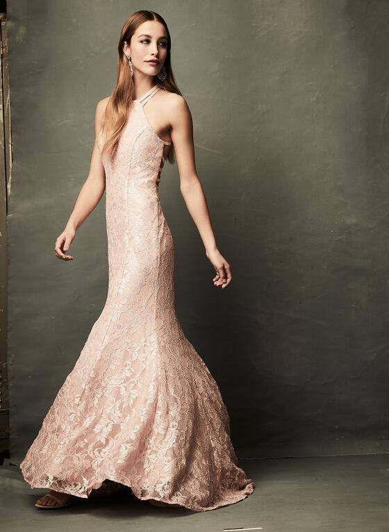 Glitter Lace Mermaid Dress, Pink