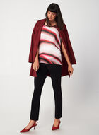 Chiffon Stripe Print Blouse, Multi, hi-res