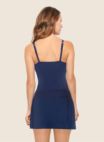 Christina - Maillot deux pièces à motif mosaïque , Bleu,  maillot de bain, deux pièces, automne hiver 2020, christina, motif, géométrique, mosaïque, jupe-culotte, vacances