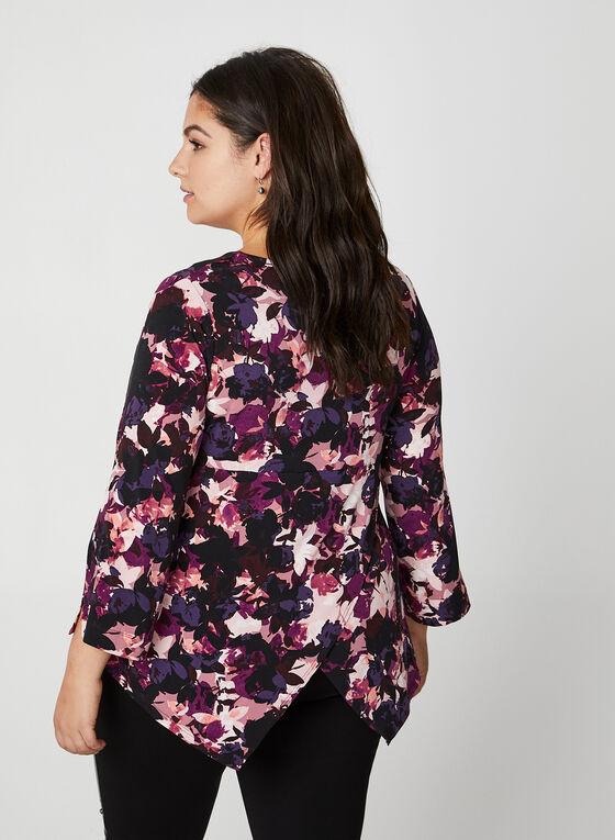 Floral Print Top, Purple