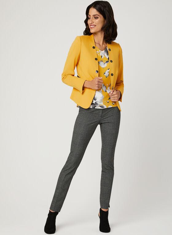 Pantalon coupe moderne motif Prince-de-Galles, Gris, hi-res