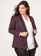 Open Front Knit Cardigan, Purple, hi-res