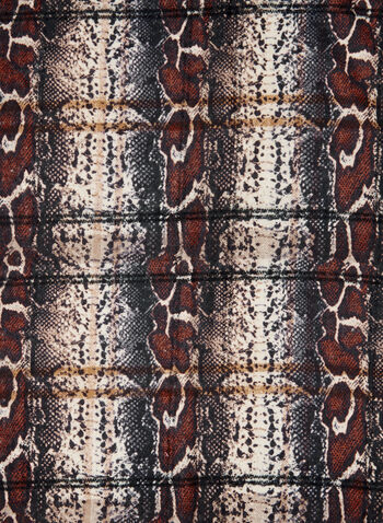 Reversible Multi-Print Scarf, Brown,  fall winter 2020, accessories, scarf, reversible, snake print, tartan,