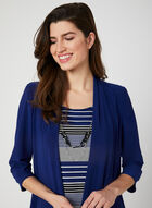 Stripe Print Dress & Jacket, Blue