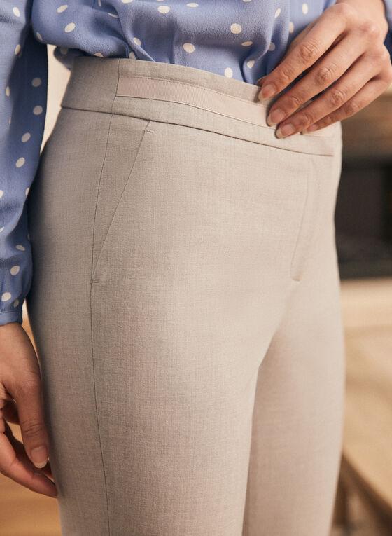 Pantalon coupe cité à jambe droite, Gris