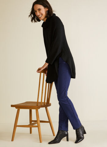 Straight Leg Jeans, Blue,  fall winter 2020, jeans, denim, pants, straight leg, basics, stretch, cotton blend