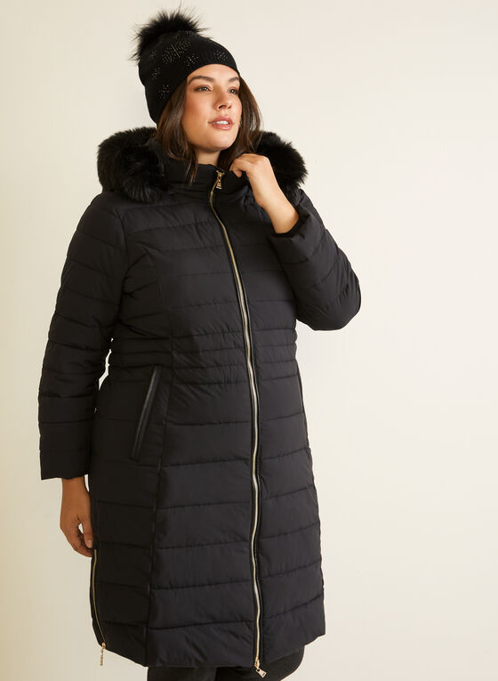 Nuage - Stretch Vegan Down Quilted Coat, Black