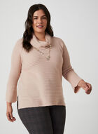 Cowl Neck Sweater, Pink